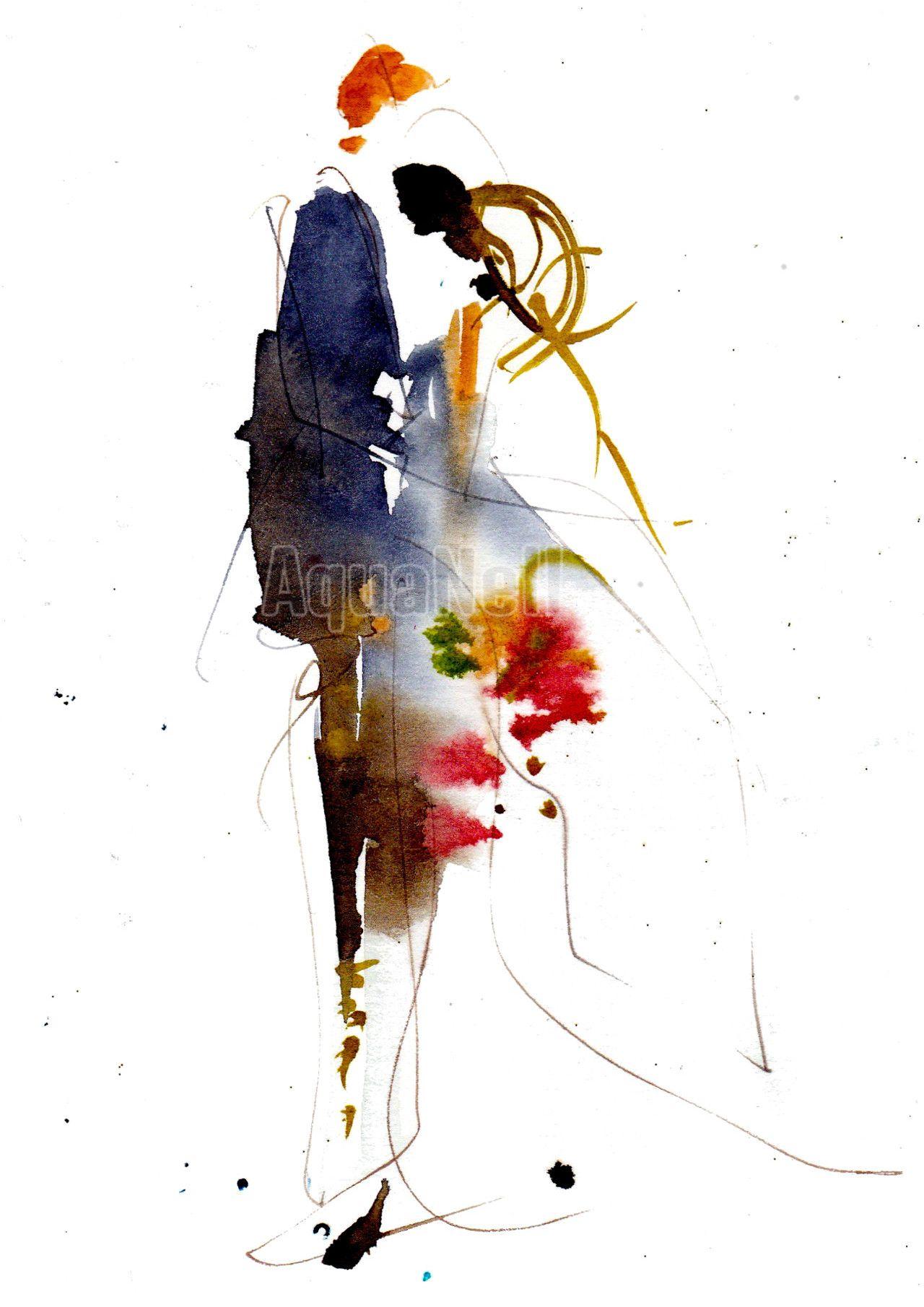 Peinture Aquarelle Mariage Pour Decorer Vos Faire Part Mariage