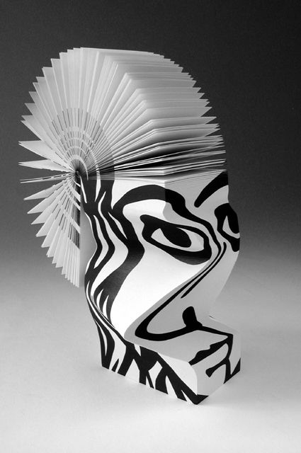 MORPH PICASSO recycled paper pad sculpture by Victoria Wonnacott for Scleeh design