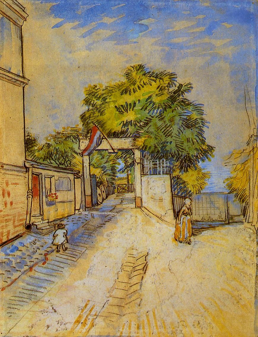 Vincent Van Gogh The Entrance Of A Belvedere Watercolor 1887