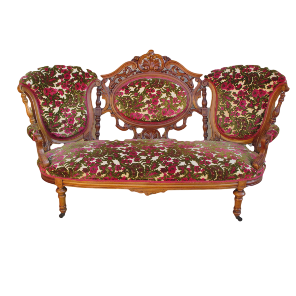 Antique Victorian Sofa Couch Settee Antique Furniture Found at RubyLane.com - Antique Victorian Sofa Couch Settee Antique Furniture Found At