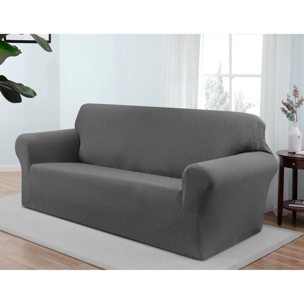 Santa Barbara Sofa Slipcover Gray Kathy Ireland Grey Cushions On Sofa Slipcovered Sofa Slipcovers For Chairs