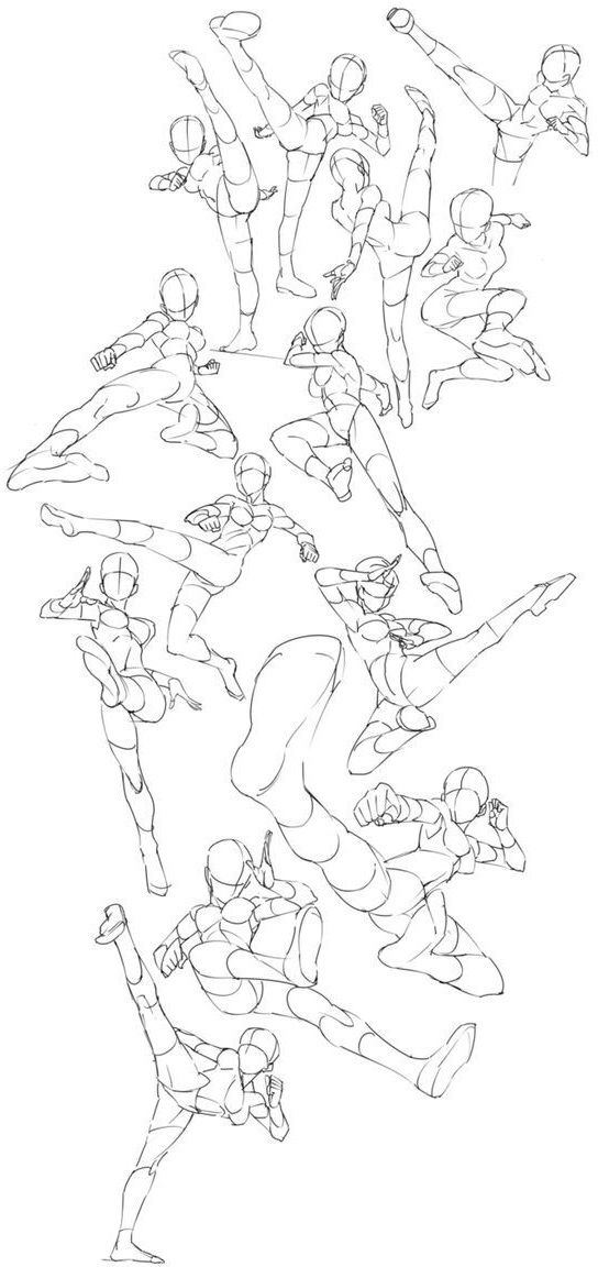 Kick Poses 1 Art Reference Poses Drawing Reference Poses Drawings