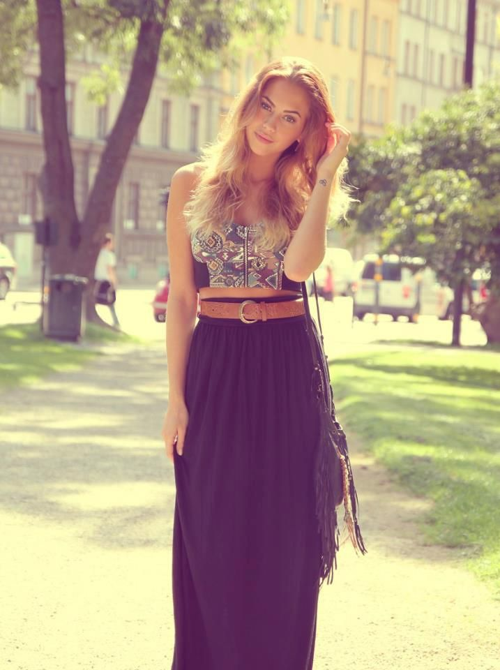 Crop Tops and Maxi Skirts | TRENDS I LOVE | Pinterest