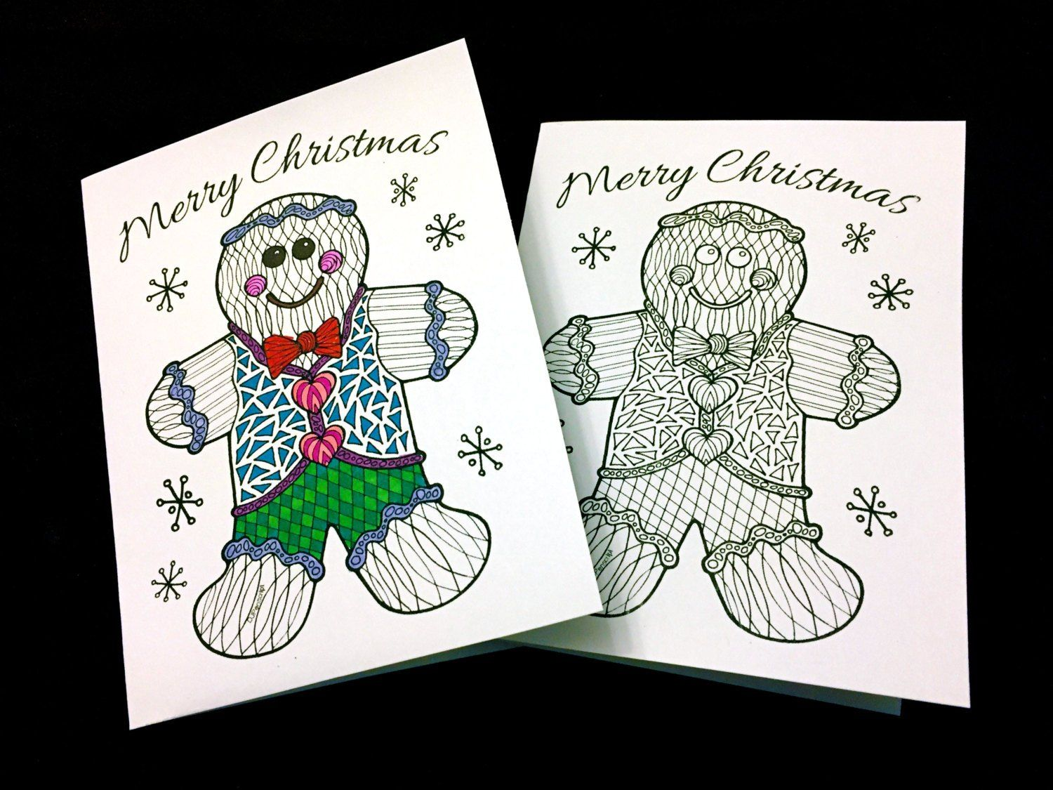 Merry Christmas Greeting Card with Gingerbread Man PDF