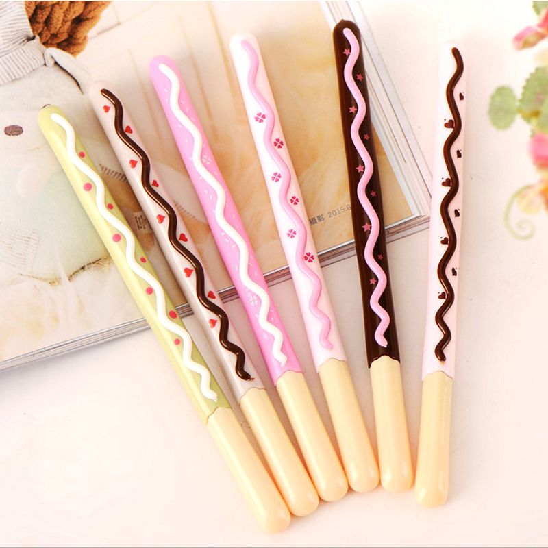 Cheap pen base, Buy Quality pen computer directly from China pen cute Suppliers: Gel Pen 0.5mm Korean Cute Kawaii Chocolate Cake Gel Pen Set For Writing Office School Supplies Stationery For Kids Stud