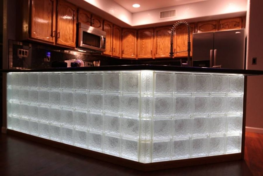 Glass Block Wall And Bar Projects Nationwide Supply Columbus