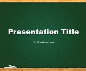 Green chalkboard powerpoint template is a free template slide green chalkboard powerpoint template is a free template slide design that you can download for presentations toneelgroepblik Images
