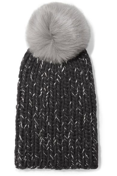 cdaf34c95dd Eugenia Kim - Rain Faux Fur-trimmed Chunky-knit Wool Beanie - Gray ...