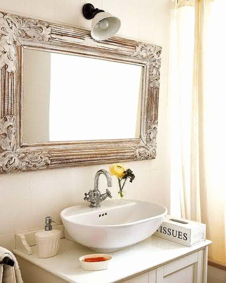 Unique Bathroom Mirror Frame Ideas Luxury 20 The Most Creative Bathroom Mirror Ideas Hou In 2020 Vintage Bathroom Mirrors Bathroom Mirror Frame Unique Bathroom Mirrors