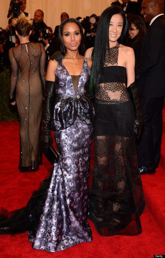 Photos Kerry Goes Punk In Purple Met Gala Dresses Met Gala Red Carpet Gala Dresses