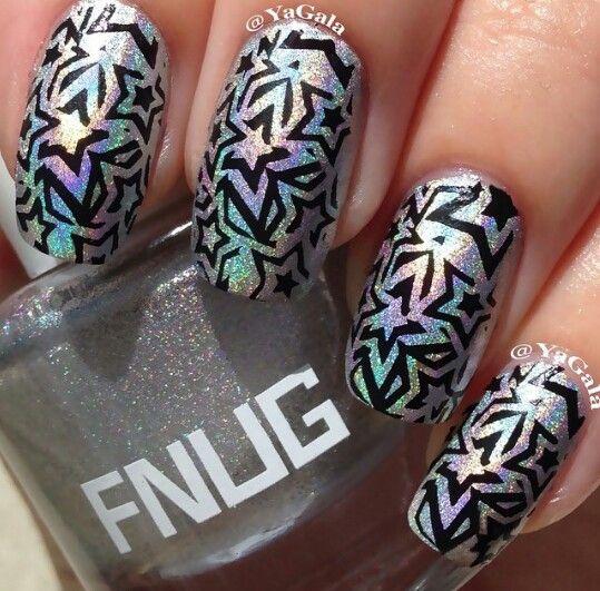 Star Designed Nails Nail Designs Pinterest Star Designs