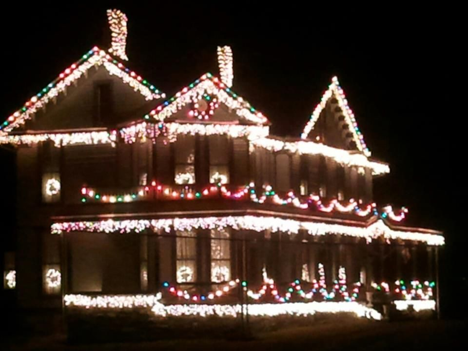 The historic Page-Vawter House in Ansted WV really lights up for the ...