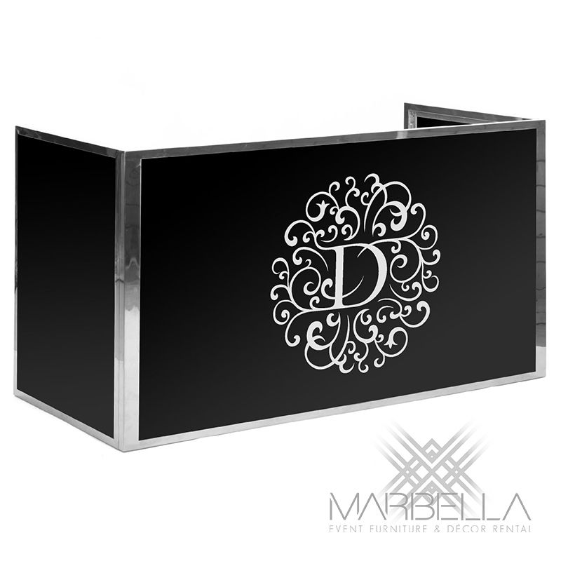 Marbella Event Furniture And Decor Rental   Event Branding  Wedding Monogram  Decal   Printed DJ