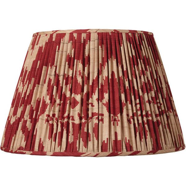 Oka 25cm Pleated Palau Silk Empire Lampshade 90 Liked On Polyvore Featuring Home Lighting Red Lamp Shade