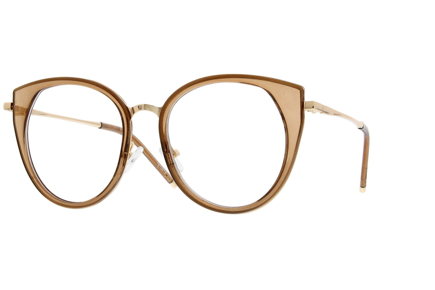 024b1b9590 Zenni Womens Cat-Eye Prescription Eyeglasses Brown Mixed Materials ...