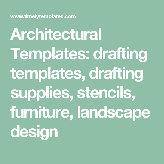 Architectural Templates: drafting templates, drafting supplies ...