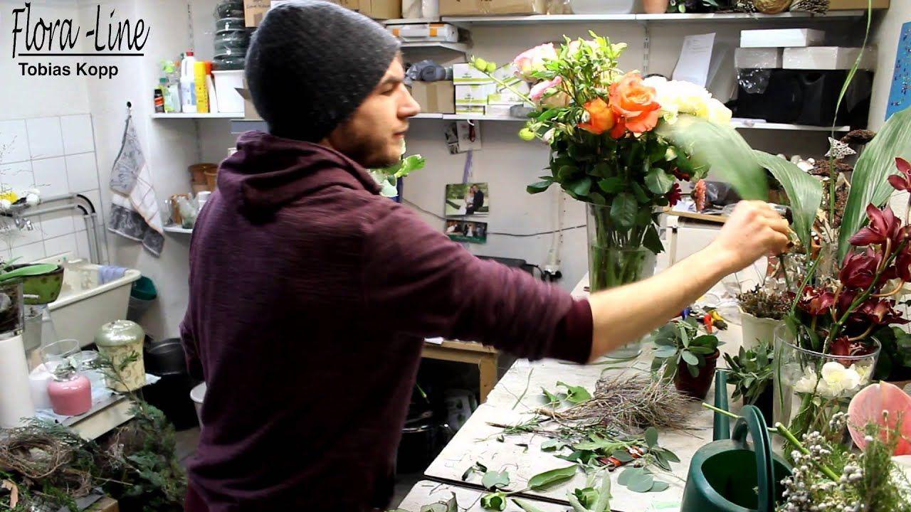 Blumenstrauss aus weisser Amaryllis-Blüte binden #amaryllisdeko