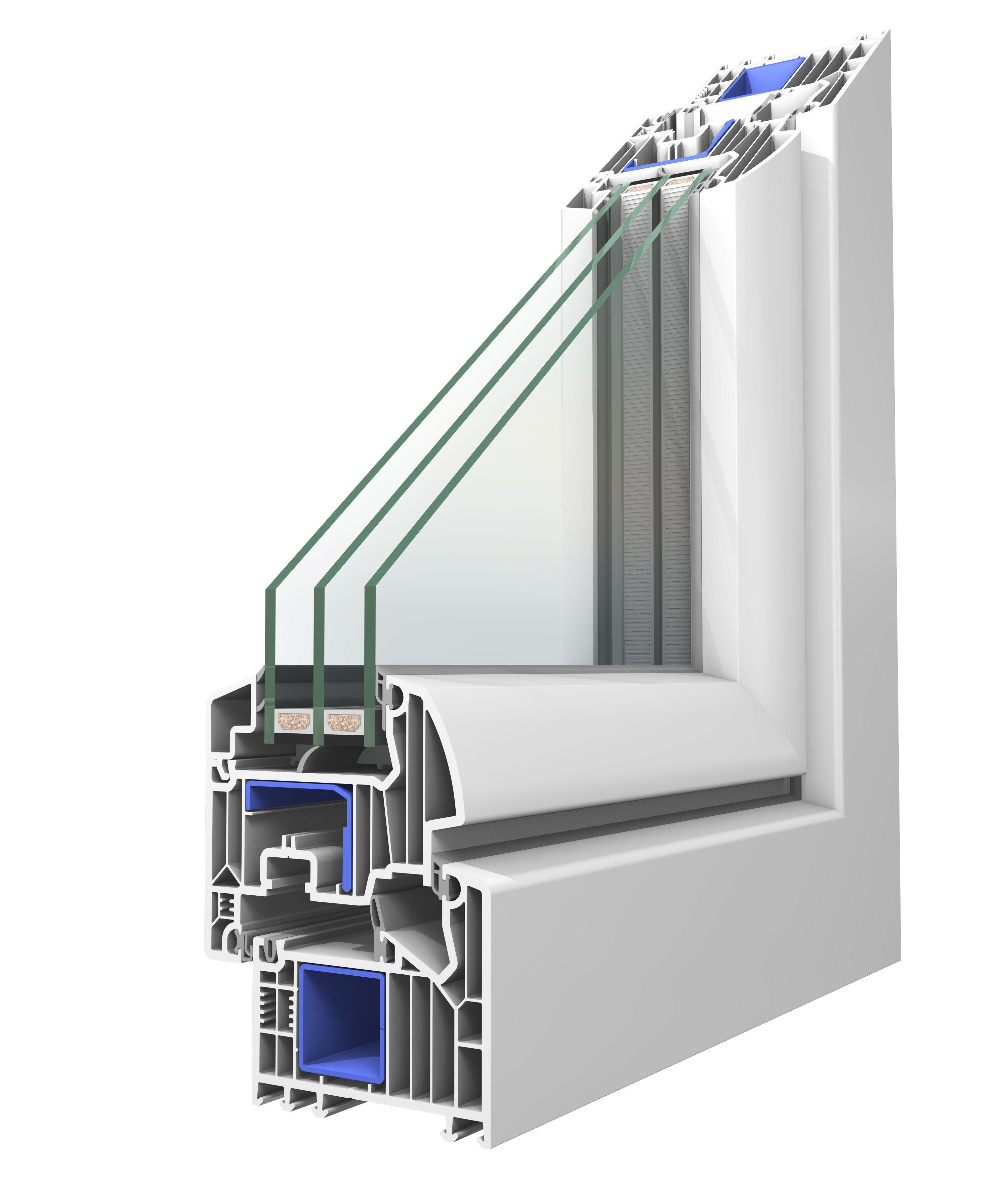 Bevorzugt Winergetic Premium Fenster basierend auf dem Veka Softline 82 LF23