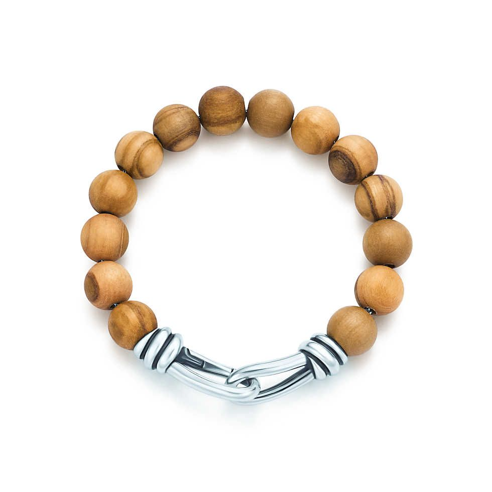 87a3bd93a8a2 Paloma Picasso® Knot bead bracelet of wood and sterling silver