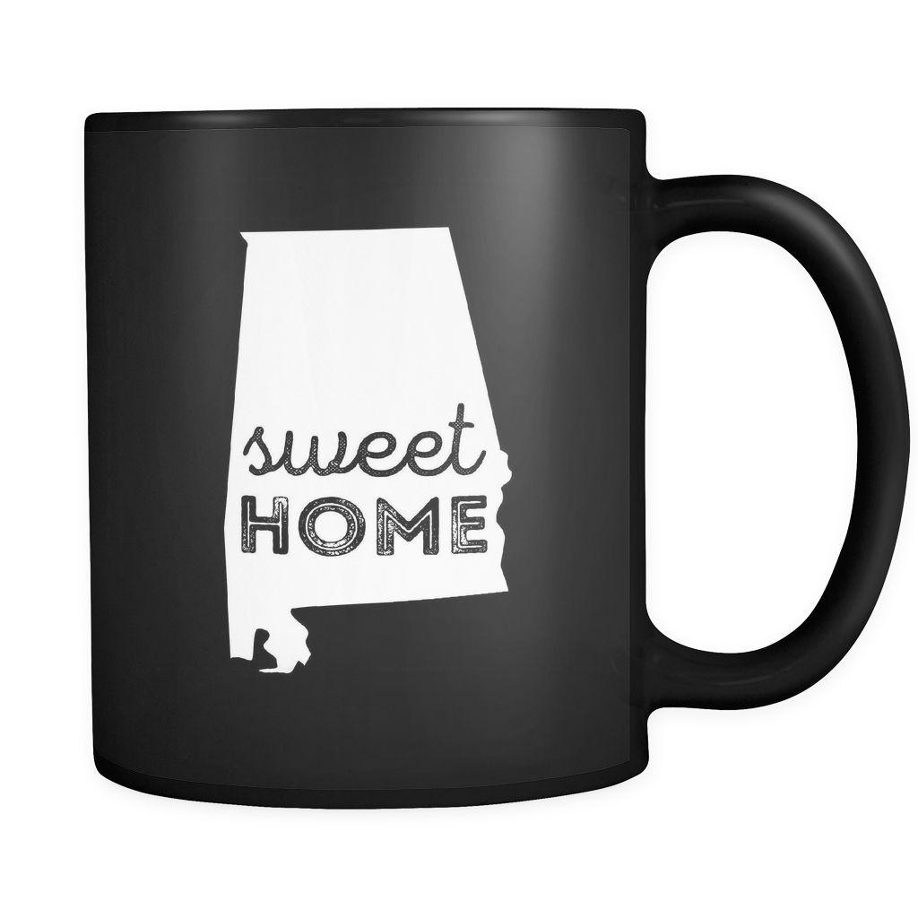 Alabama Sweet home Alabama 11oz Black Mug   Alabama and Products