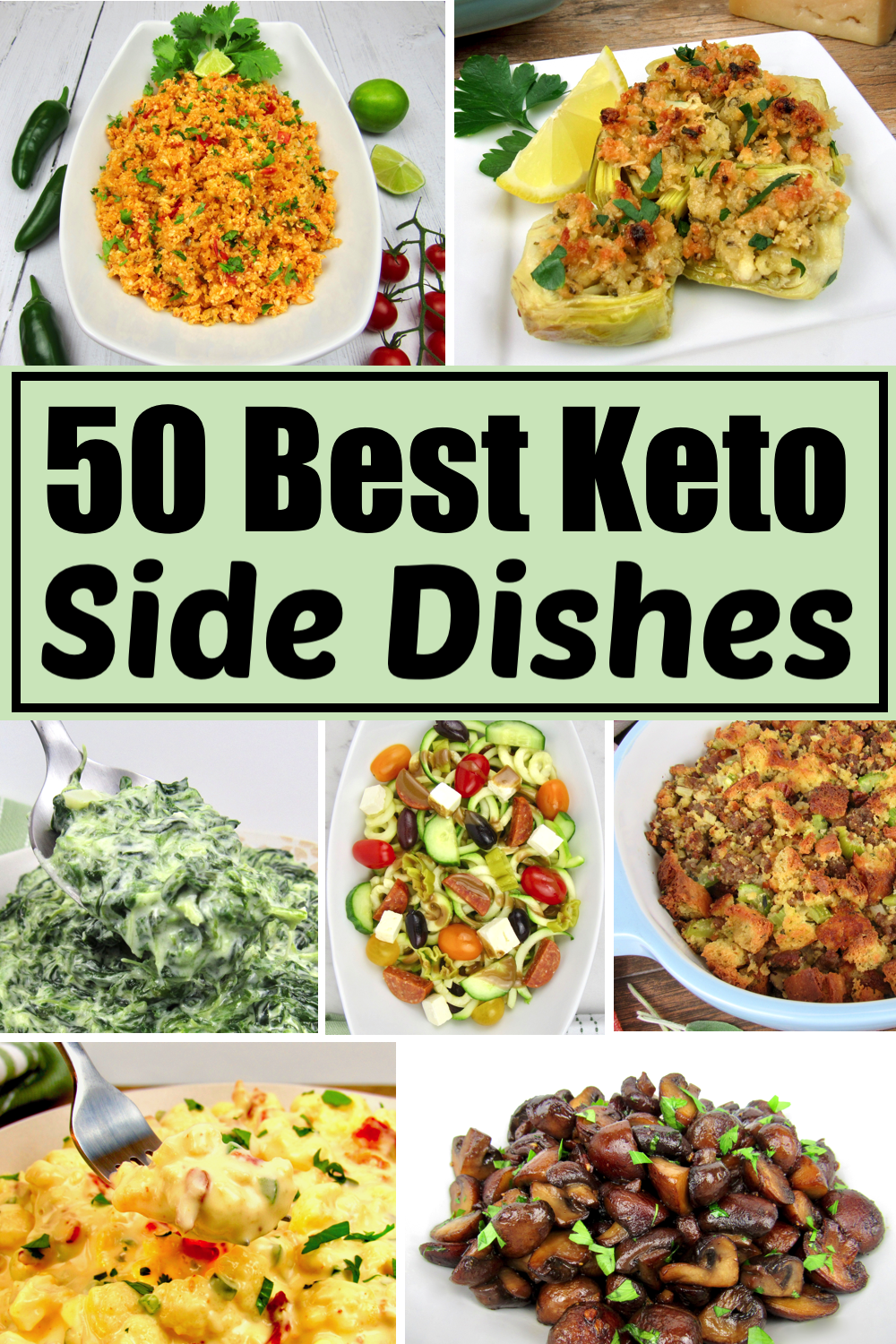 25 Best Keto Side Dish Recipes #dinnersidedishes