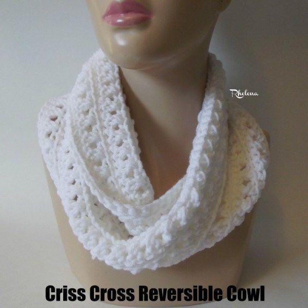 Criss Cross Reversible Cowl | Tejido, Bufanda cuello y Blusas lindas