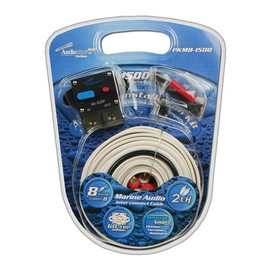 nippon audiopipe 8 gauge marine amplifer wiring kit #pkmb1500
