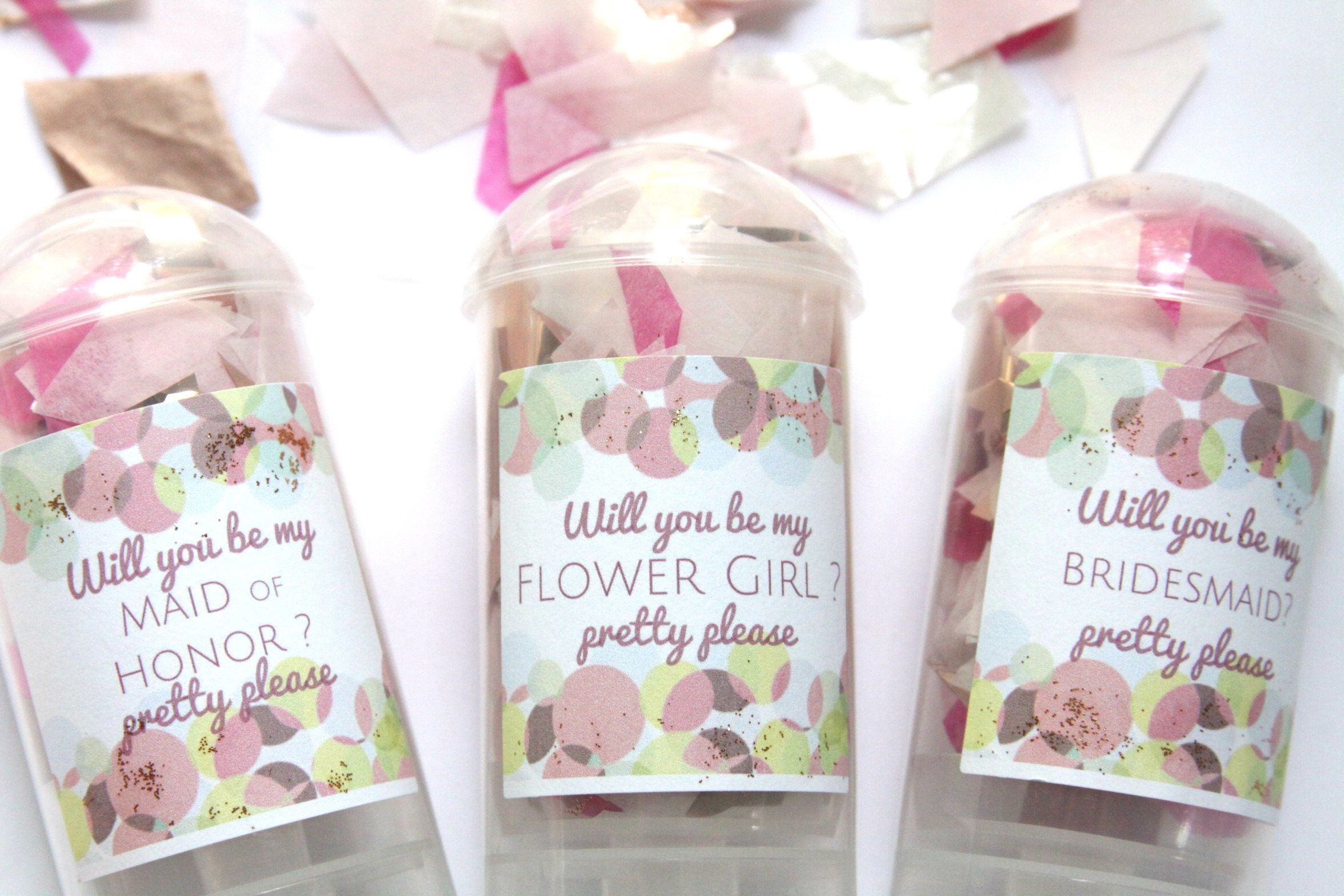 Bridesmaid Proposal Poppers, MOH Proposal, Will You Be My Maid of ...