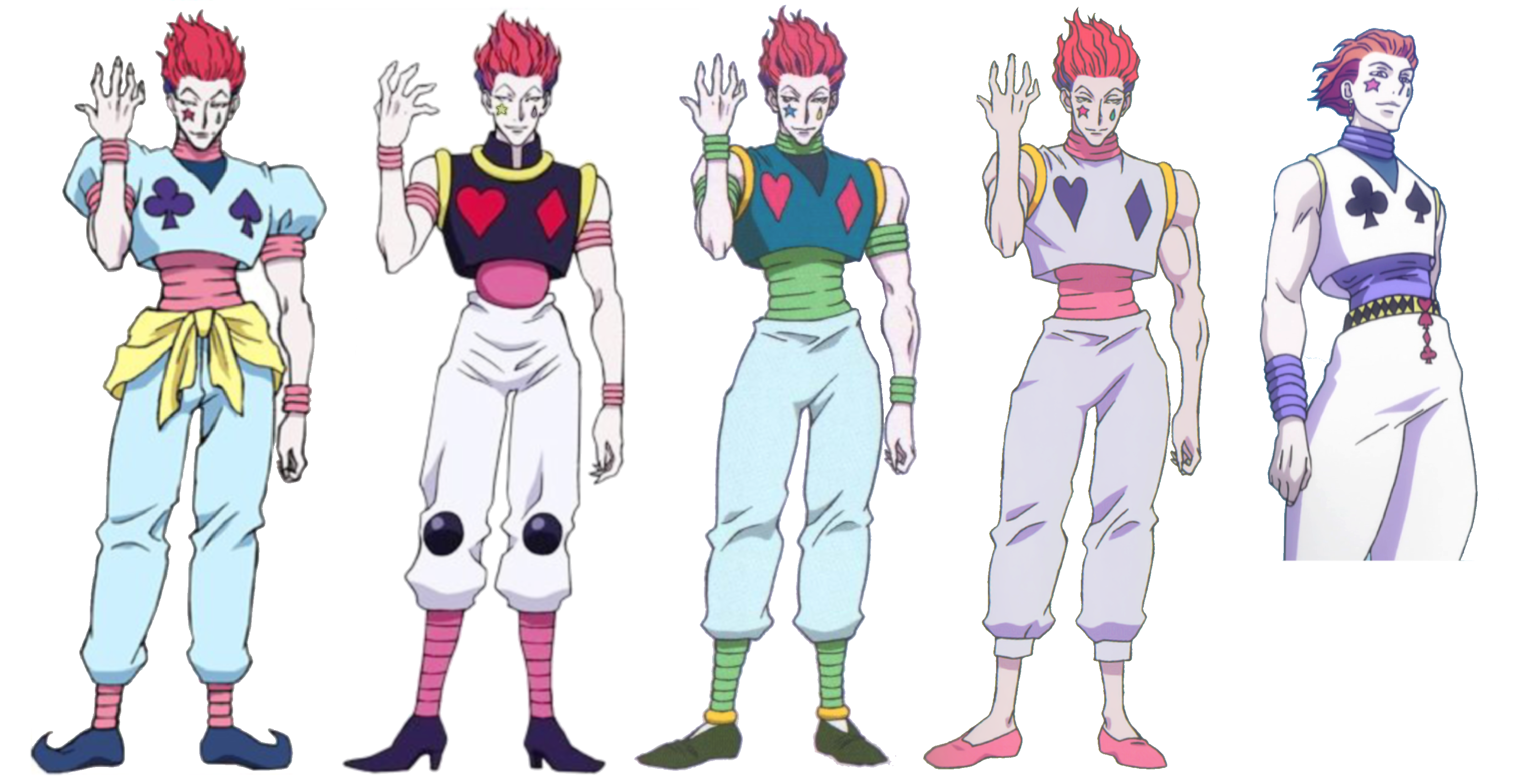 Hisoka Morow S Outfits Hunter Anime Anime Crafts Hisoka