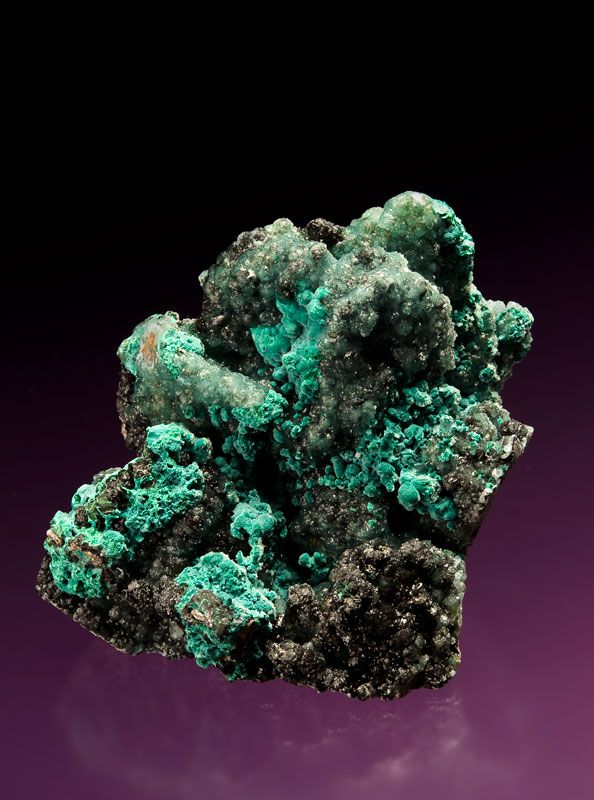 Willemite with Rosasite - $3950 Tsumeb Mine, Otjikoto Region, Namibia 9.2 x 6.9 cm NY3-433 - Covered by translucent balls of lustrous willemite, this attractive combination piece from Tsumeb also features velvety blue-green rosasite for a superb color pairing. Areas of the willemite are a steely blue-green while others are darker. Tiny crystals of white dolomite add a nice contrast.