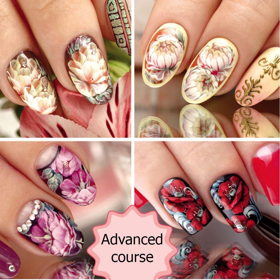 Flower Nail Art Manicure Nailart Nailsdiy Nail Art Courses Diy Nail Designs Nail Art Stickers