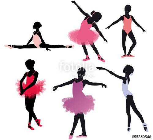 """Download the royalty-free vector """"Petites danseuses classiques"""" designed by Wild Orchid at the lowest price on Fotolia.com. Browse our…"""