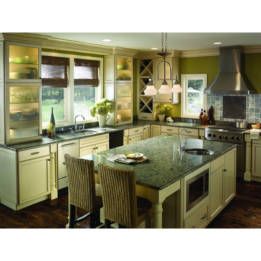 Shop Sensa Verde Aquarius Leather Granite Kitchen