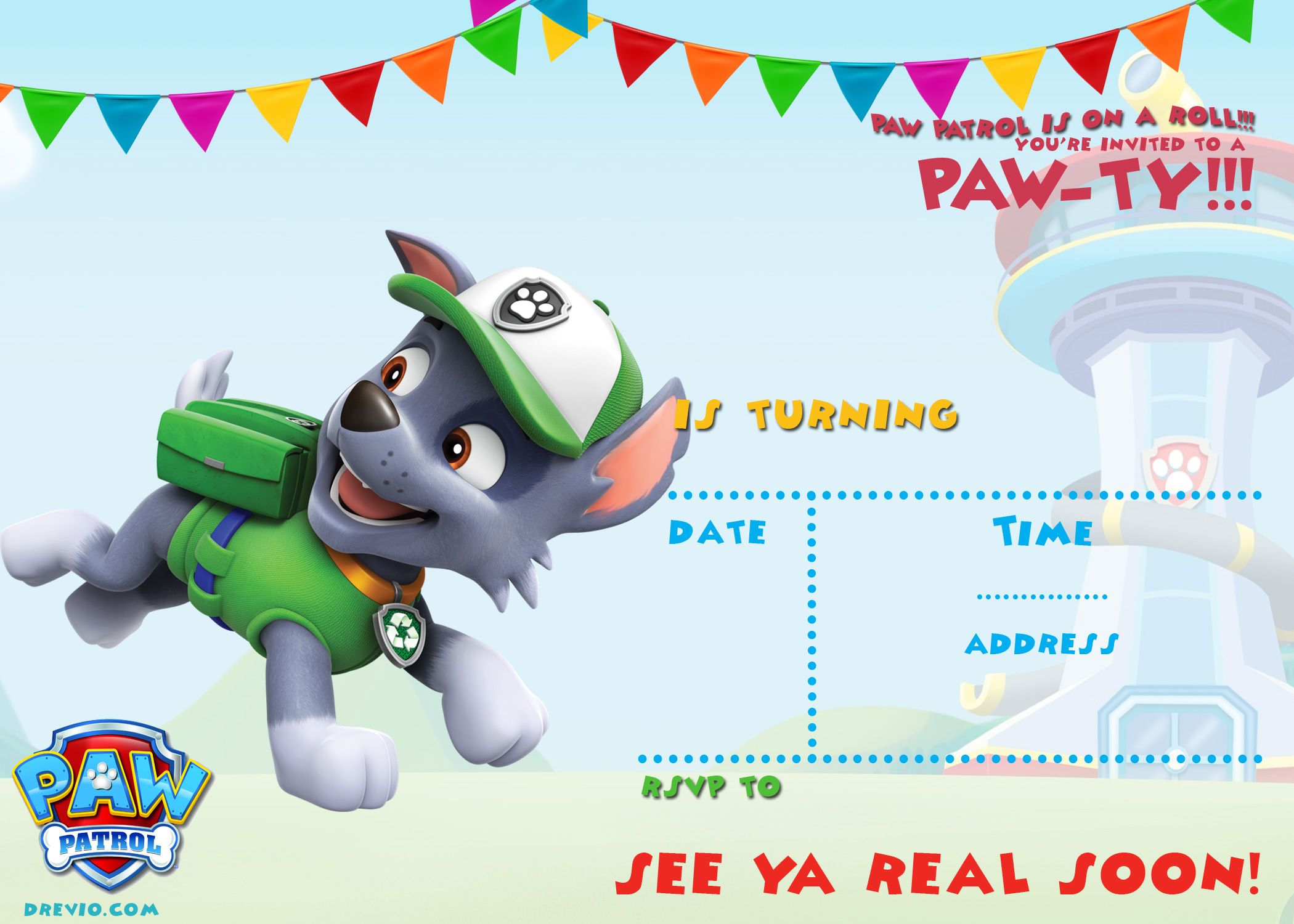 photo about Free Printable Paw Patrol Invitations named No cost Printable Paw Patrol Invitation Template - All