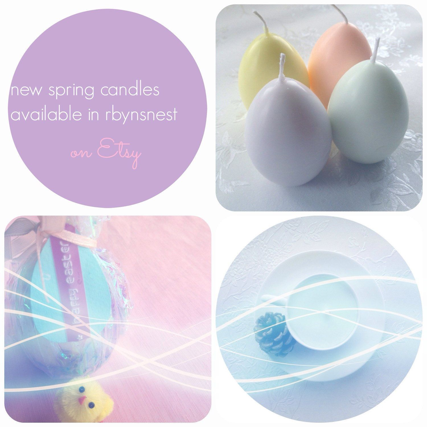 ..it is smelling so yummy in the studio just now with all these new candles hatching! Check out my new pastel and floral Spring range ✨