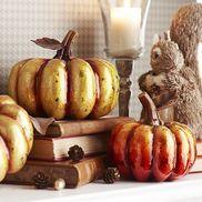 Capiz Ombre Pumpkins - Orange