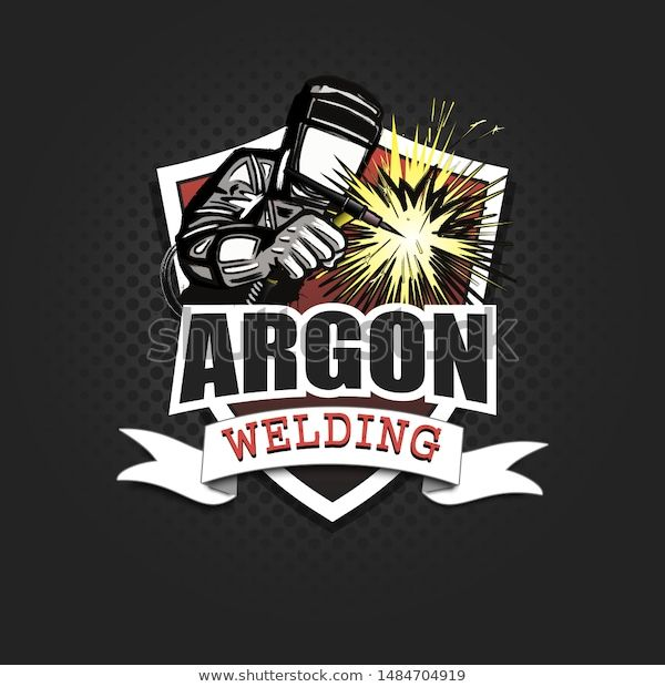 Find Logo Welder Mask Performing Argon Welding stock ...