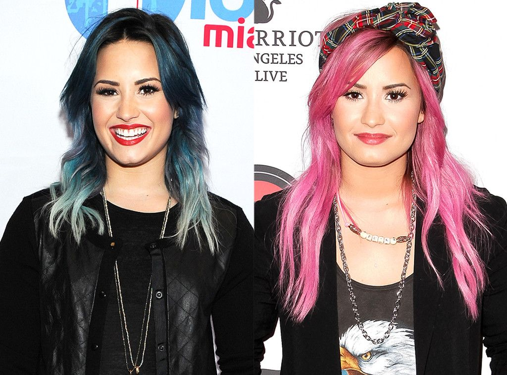 Demi Lovato From Celebrities Changing Hair Color Haircolor