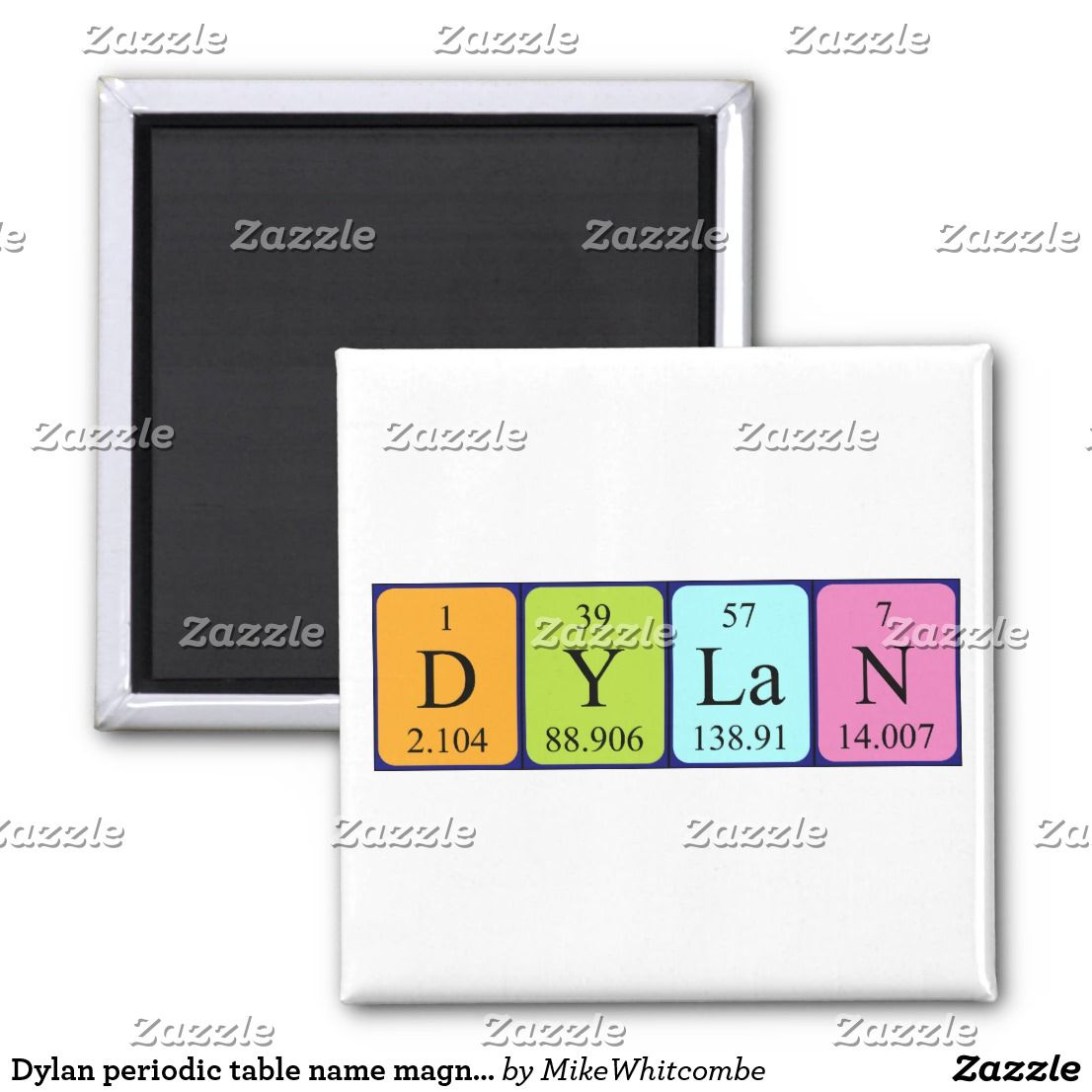 Dylan periodic table name magnet periodic table and magnets dylan periodic table name magnet urtaz Gallery