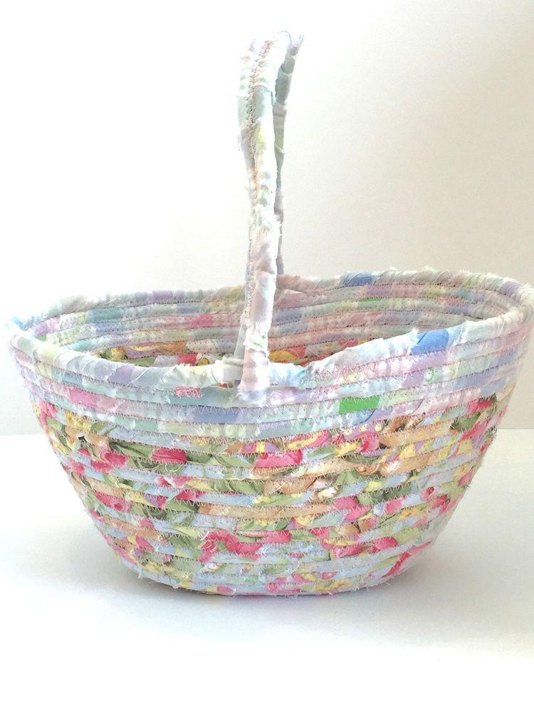 Large Easter Basket, Flower girl basket, Fabric Coiled Basket, Basket storage, Nursery Decor, Pink Easter Basket, Nursery storage by KathyTDesigns on Etsy #girlboss #girlpower #girlswithtattoos #girlsbedroom #girlgroup