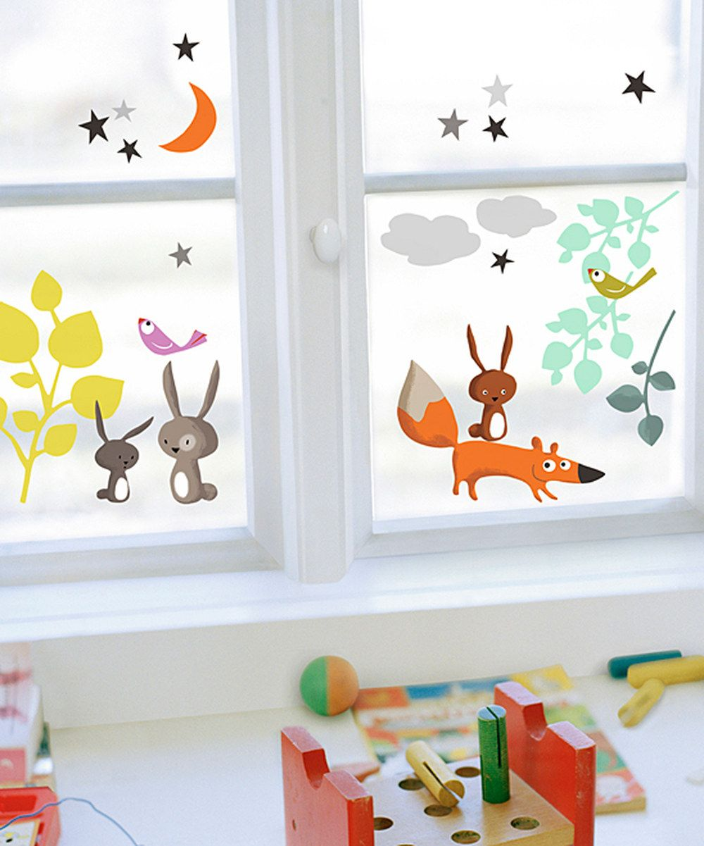 Love This Animals Tales Window Cling Set By Nouvelles Images On