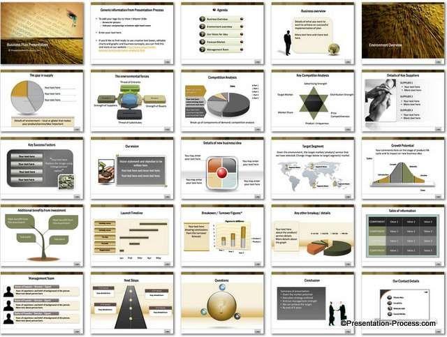 Powerpoint Business Plan Template Business Pinterest Resume