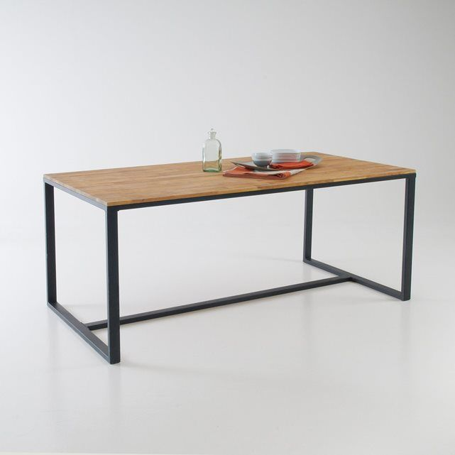 table 6 8 couverts ch ne massif about hiba la redoute interieurs meubles objets. Black Bedroom Furniture Sets. Home Design Ideas