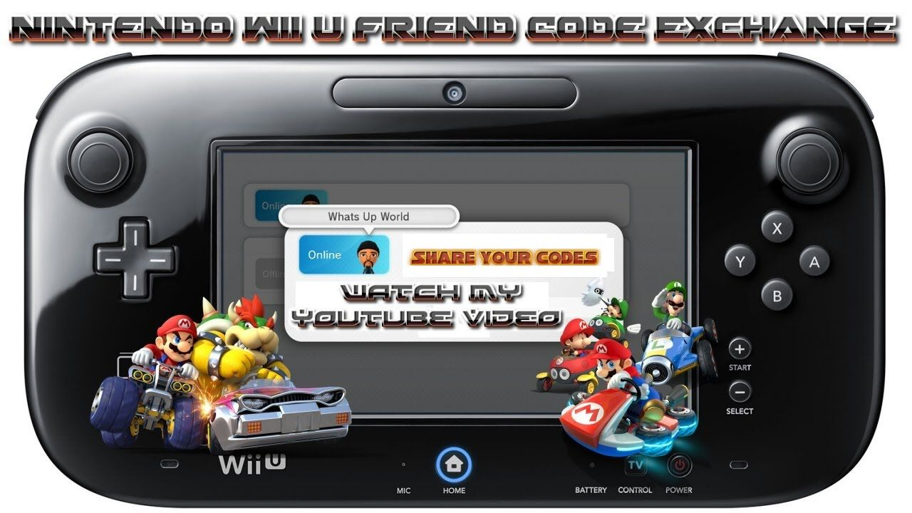 Wii U Friend Code Exchange