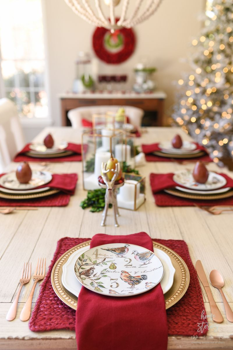 How To Set An Informal Table 12 Days Of Christmas Table Setting Christmas Dining Table Christmas Table Christmas Dining Table Decor