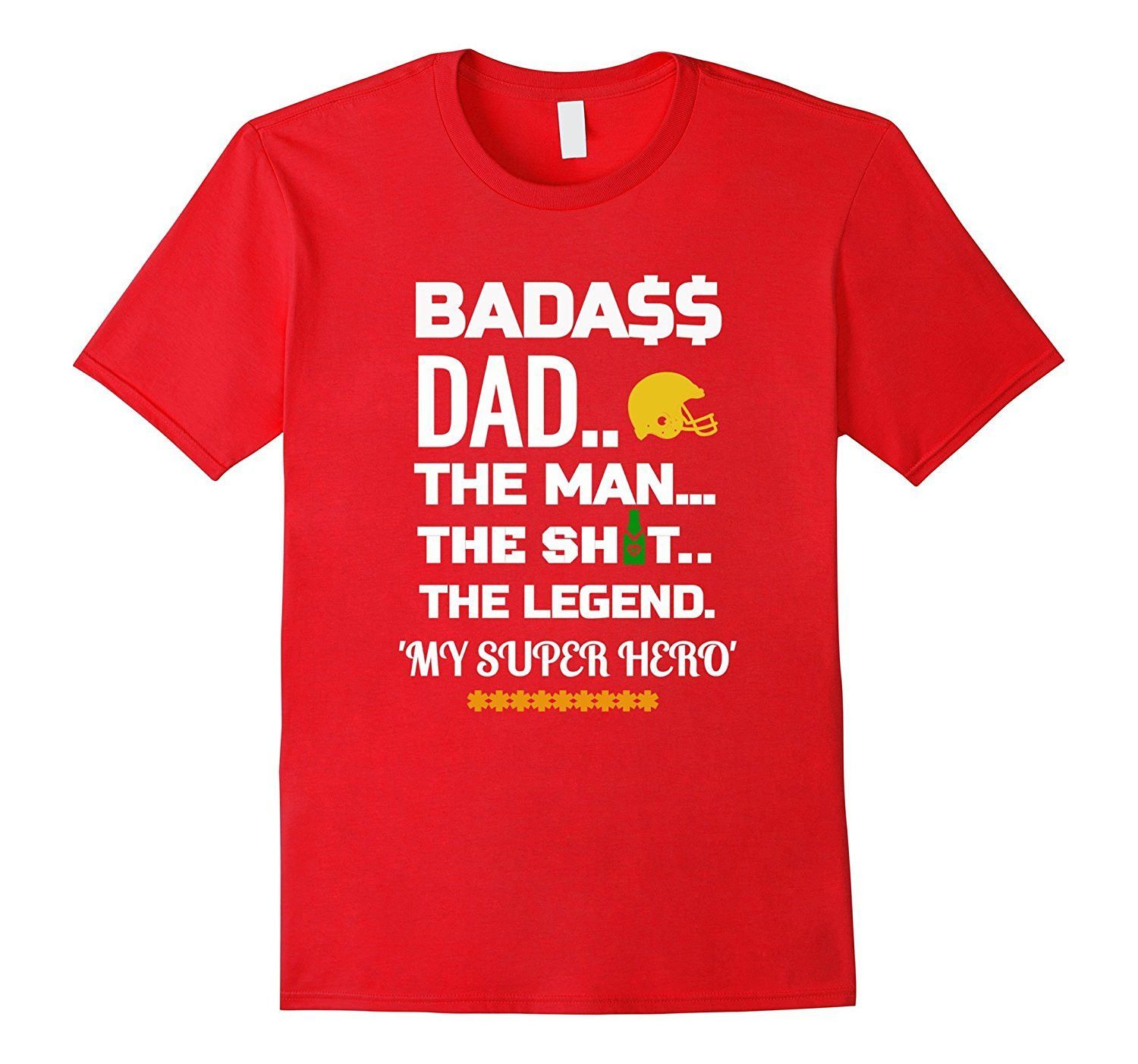 Bada$$ Dad 'My Super Hero' Funny Fathers Day T Shirt
