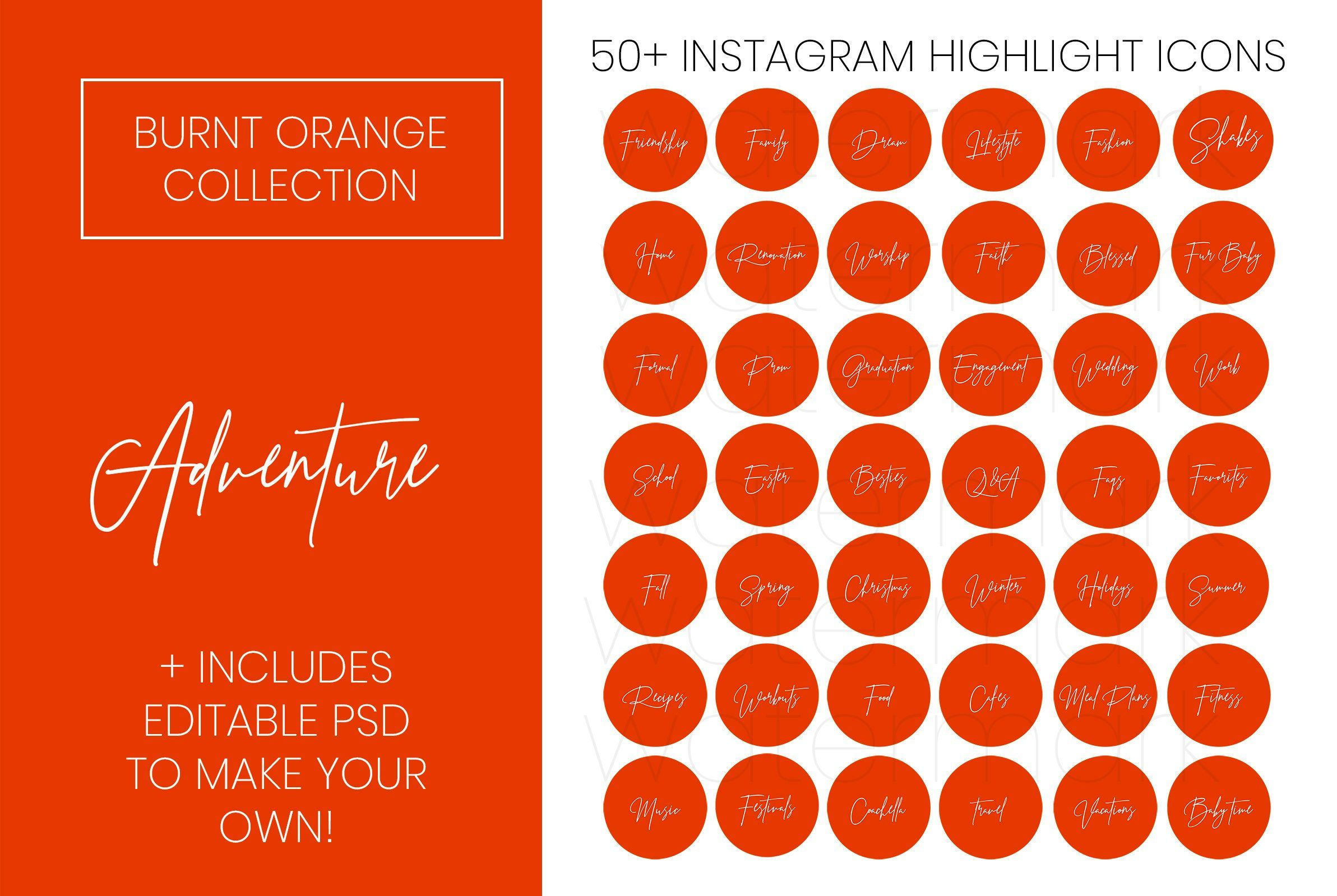 Instagram Highlight Cover Icons 50 Script Handwritten