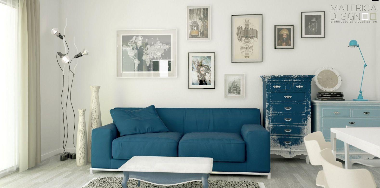 Blue Sofa Living Room Design Unique Admirable Blue Sofa Designs For Fascinating Living Room  Catchy Design Ideas