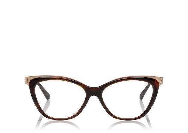 46c1b170a0 Gafas de moda perfectas: fotos de los modelos - Gafas cat eye oro y  chocolate Tom Ford