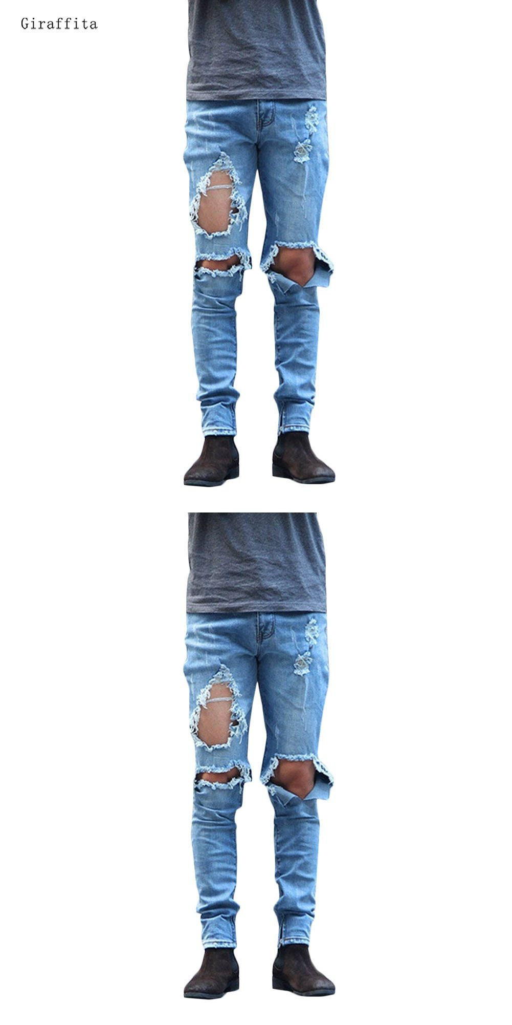 With Holes Men Best Hot Sale Original Handmade Creative Jeans Novelty Cute  Style 57eb96421493